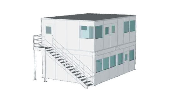 Two Level In-Plant Modular Office