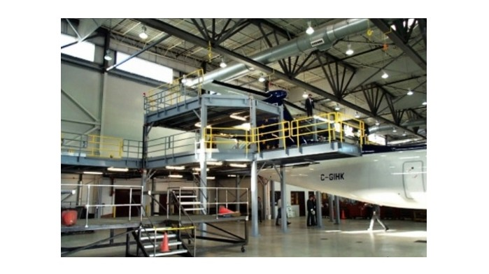 Industrial Steel Mezzanine for Aircraft Manufacturing